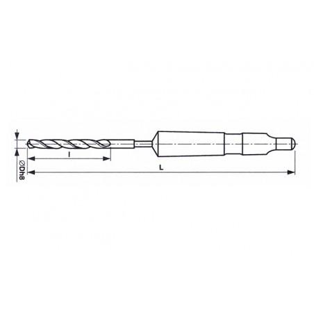 Vrták s kuželovou stopkou vysoce výkonný HSSCo 221143