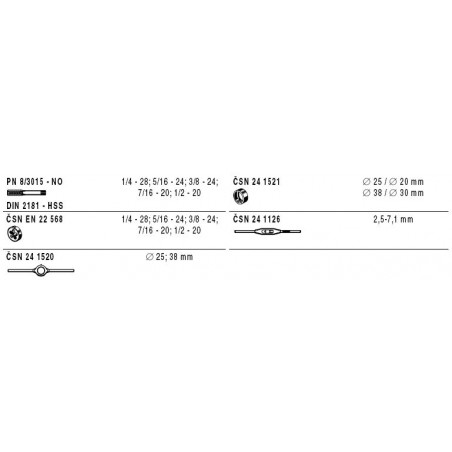 Souprava závitořezných nástrojů 238911.3