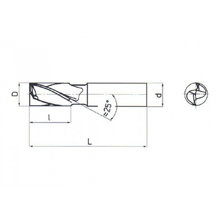 Fréza pro drážky per krátká, nesouměrná F220408