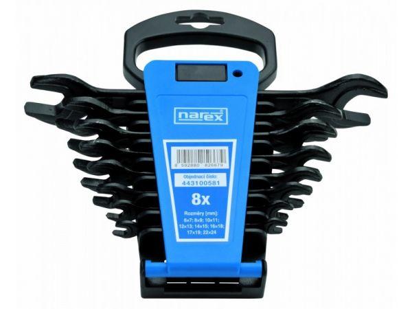 Sada oboustr.klíčů v plast.držáku DIN 895 - NAREX 230895.508-NAREX 8-dílná /6-24/