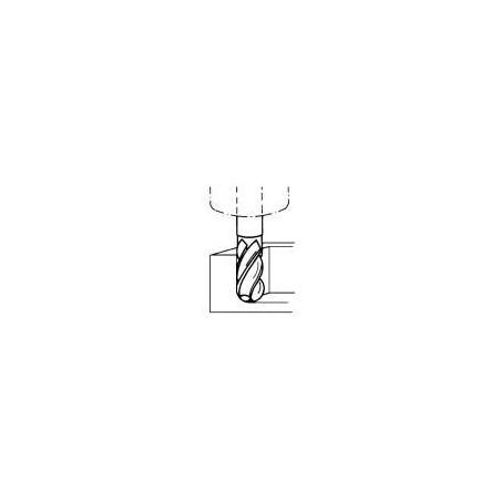 Fréza kopírovací krátká, s půlkruhovými břity F530718