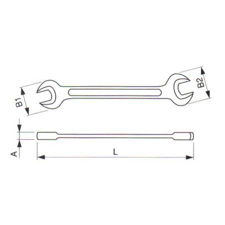 Klíč maticový otevřený oboustranný DIN 895 - TONA