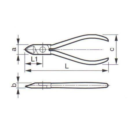 Kleště štípací boční ZBIROVIA 335