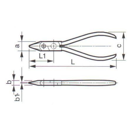 Kleště pro jemnou mechaniku ZBIROVIA 343/160 PVC