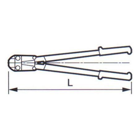Kleště štípací na tyče a svorníky ZBIROVIA 270