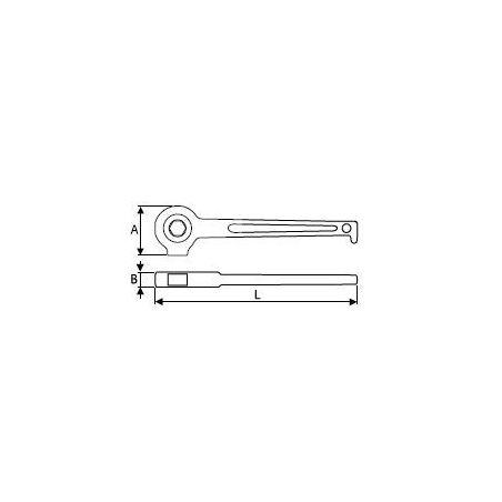 Lešenářská ráčna (19mm) - TONA EXPERT