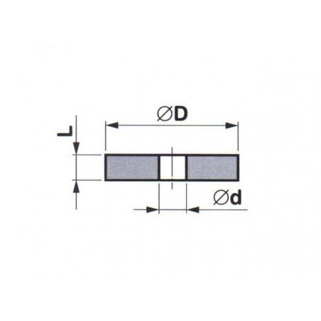 Brousící kotouč plochý elastický BRUSIVO