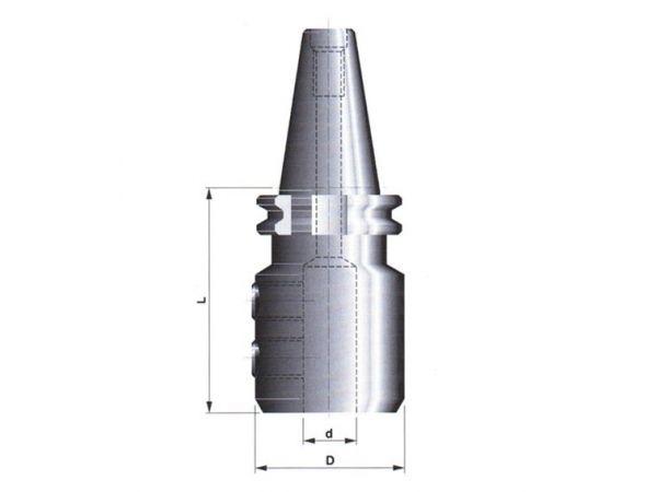 Držák pro upínání fréz s válcovou stopkou s ploškou DIN 1835-B 247205