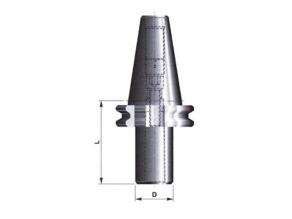 Redukční pouzdro s dutinou morse a upínacím šroubem 247212