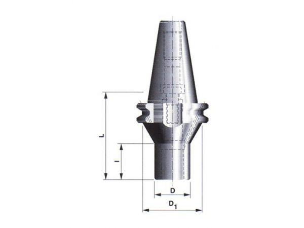 Redukční pouzdro s kuželovou dutinou morse a upínacím šroubem 591038 40x2