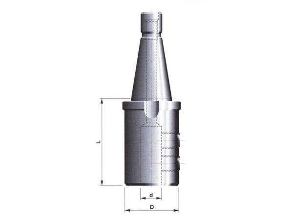 Držák pro upínání fréz s válcovou stopkou s ploškou DIN 1835-B 247205.1