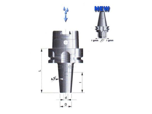 Držák pro tepelné upínání nástrojů SK a HSSE se stopkou v toleranci h6 506102