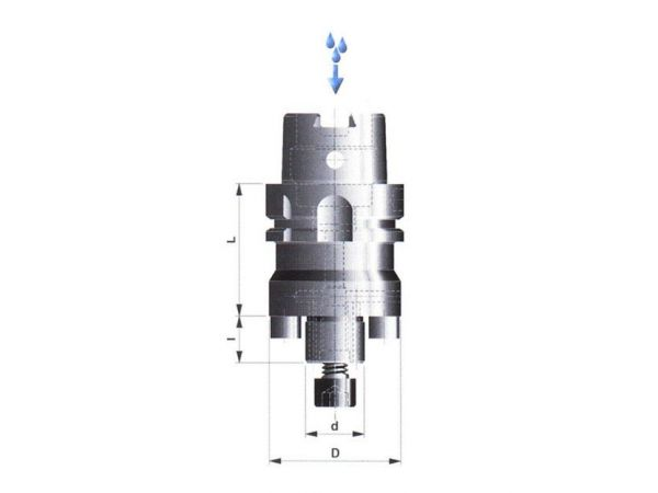 Frézovací trn pro frézy s příčnou unášecí drážkou a vnitř. přívodem chladící kapaliny 504017