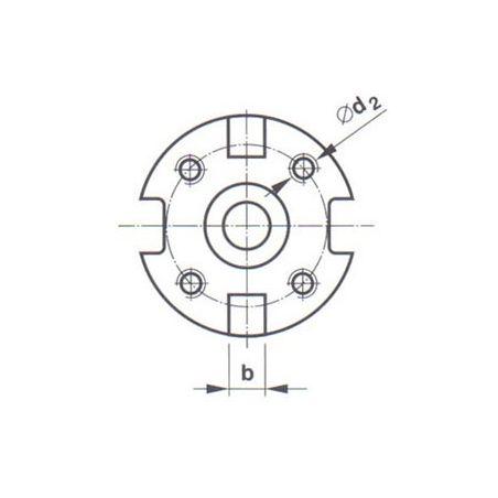 Frézovací trn s kuželovou stopkou strmou s čelními unašeči - KFH