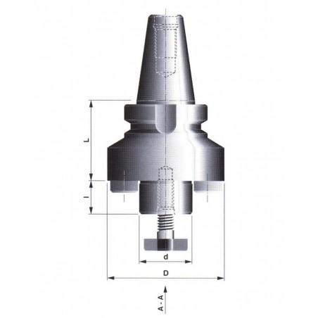 Frézovací trn pro frézovací hlavy 527027 50x60