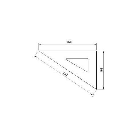 Rýsovací trojúhelník 255163 250-60° /4085/ - KINEX