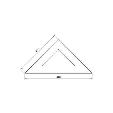 Rýsovací trojúhelník 255162 250-45° /4080/ - KINEX