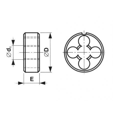 Závitová kruhová čelist HSS, Whitworthuv závit - CZ TOOL